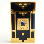 S.t.dupont Line2 Nuevo Mundo 1998 Spinel Gas Lighter Navy Gold Limited To 2000