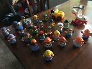 Fisher Price Little People Lot Of 26 Figures Robin Hood And Accessories