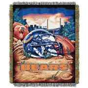 The Northwest Company Chicago Bears Nfl Woven Tapestry Throw