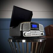 Trexonic Retro Record Player With Bluetooth, Cd Players, And 3-speed Turntable
