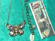 Firefly Jewelry Necklace Butterfly Bermuda Blue Teal Crystals 8838-bb