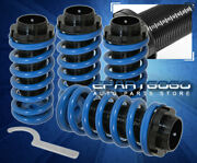 For 90-93 Acura Integra Jdm Vip Scale Adjustable Coilover Sleeves Kit Set Blue