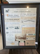 Antique Stagecoach Photo And Wells Fargo And American Express Stage Bills Ft. Apache