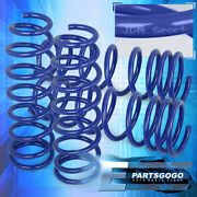 For 13-17 Accord / 15-20 Tlx 2.4l Jdm Vip Lowering Springs Set Front+rear Blue