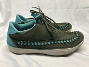 Nike Solarsoft Moccasin Woven Sneakers Tarp Green Rare 555345-333 Menand039s Size 9