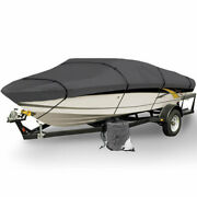 Heavy Duty Trailerable Boat Mooring Cover 14and039 15and039 16and039 Ft Gray Storage Covers