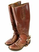 Canadian Officers Leather High Top Boots And Spurs