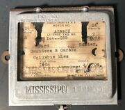 1928 Mississippi Drivers License Taxi Plate Frame Tag Topper Columbus