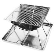 Charcoal Grill Foldable Bbq Grill Portable Stainless Steel Picnic Barbecue