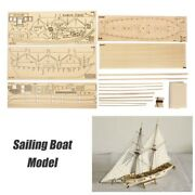 Diy Ship Assembly Model Kits Wooden Sailing Boat Scale Model Decoration Toys