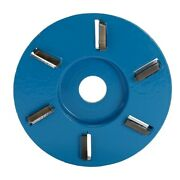 Six Teeth Power Wood Carving Disc Tool Milling Cutter For 16mm Aperture Angle