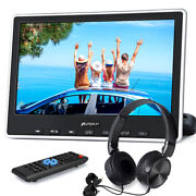 10 Hd 1080p Slot-in Car Monitor Portable Dvd Player Tv Screen Hdmi Usb+headsets