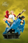 Power Girl And Huntress Legacy Statue Figure New Sealed