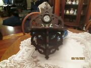 Antique Wooden Cut Out Out Wall Shelf- Medallion Center/ Picture Etc