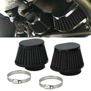 2x 55mm Id Black High-performance Motorcycle Parts Pod Air Filter Cleaner Black
