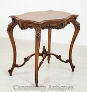 Carved French Side Table - Antique Walnut Occasional Tables 1880