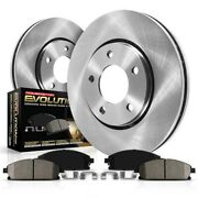 Koe2908 Powerstop 2-wheel Set Brake Disc And Pad Kits Front New For Chevy Olds