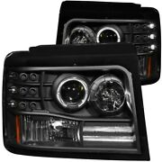 111184 Anzo Headlight Lamp Driver And Passenger Side New For Truck F150 F250 F350