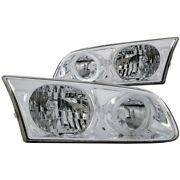 121124 Anzo Headlight Lamp Driver And Passenger Side New For Vw Lh Rh Toyota Camry