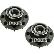 Set-tmha590000 Timken Set Of 2 Wheel Hubs Front Driver And Passenger Side New Pair