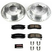 K1203 Powerstop Brake Disc And Pad Kits 2-wheel Set Rear New Coupe For Eclipse