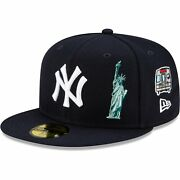 New York Yankees New Era City Transit 59fifty Fitted Hat - Navy