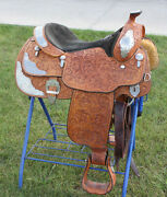 Billy Cook 16 Inch Western Saddle Gently Used Tooled Leather W/ Sterling Silver