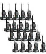 20 Pack Baofeng Bf-888s Ham Two Way Radio Walkie Talkie With Rechargeable Batte