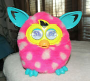 Furby Boom Hasbro Pink With White Polka Dotsteal Ears 2012 Tested Works