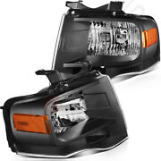 Headlight Fits 2007-2014 Ford Expedition Headlamp Assembly Light Pair Left+right