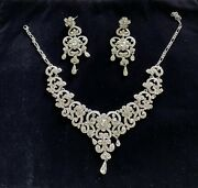 Stunning Diamante Necklace And Earring Set