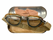 Ww2 Canadian Rcaf Named Private Purchase Flying Goggles And Case