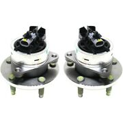 Set-tmha590086 Timken Wheel Hubs Set Of 2 Front Driver And Passenger Side New Pair