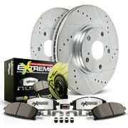 K515-26 Powerstop Brake Disc And Pad Kits 2-wheel Set Rear New For Vw Passat A6