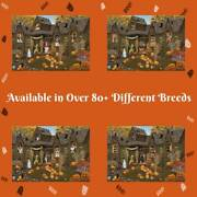 Halloween Haunted House Dog Cat Pet Jigsaw Puzzle With Photo Tin
