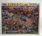 White Mountain Puzzles The Voyage Of Lewis And Clark 799s Rare 1000 Pc Complete