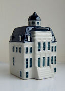 Klm Blue Delft Miniature House Number 100 - Special Edition See Pictures