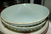 Lenox French Perle Groove Ice Blue Pasta Bowl S New