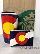 Starbucks Colorado Travel Ceramic Tumbler Double Wall With Coin Pouch New