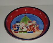 Snow People Christmas Pasta Serving Bowl By Block 11