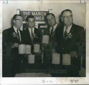 1968 Press Photo Business Division Leaders For January March Of Dimes Campaign