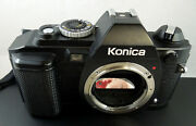 Konica Fs-1 35mm Slr Ffilm Camera Body Only Looks And Works Great