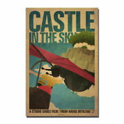 Castle In The Sky Hayao Miyazaki Anime Vintage Silk Poster Wall Hanging Funny