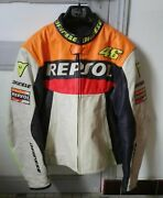 Dainese Leather Honda Repsol Jacket Size Dainese 56 Valentino Rossi Edition