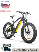 Electric Bike ⚡fat Tire Bafang 750w 48v 13ah Adult 7 Speed Beach Motorcycle ✈✅🔥