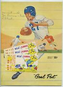 The Goalpost September 1957 Ucla Vs Air Force Academy Tickets Glued To Cover