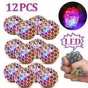 Zgwj 12 Pack Anti-stress Ball Led Mesh Squeeze Ball Toys Home And Office Use Str