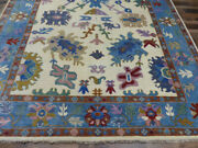 9and039x12and039 New Turkish Oushak Hand Knotted Wool Oriental Transitional Area Rug