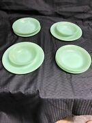 Jadeite Fire King 2 Each Dinner Plate, Soup Bowl, Cereal Bowl, Lunch/soup Plate
