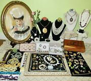 Huge Vintage-now Jewelry Lot And Box Sterling Alex And Ani Giovanni Gf And More